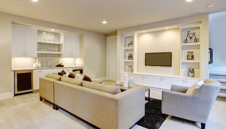Create The Perfect Basement Living Room